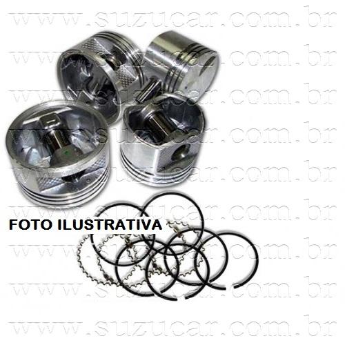 Jogo de Pistão e Anéis SAMURAI 1.3 8V (0.50mm)