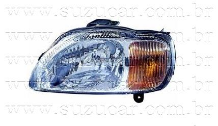 Farol do Suzuki BALENO 1.6 16V c/ Pisca (Esquerdo)