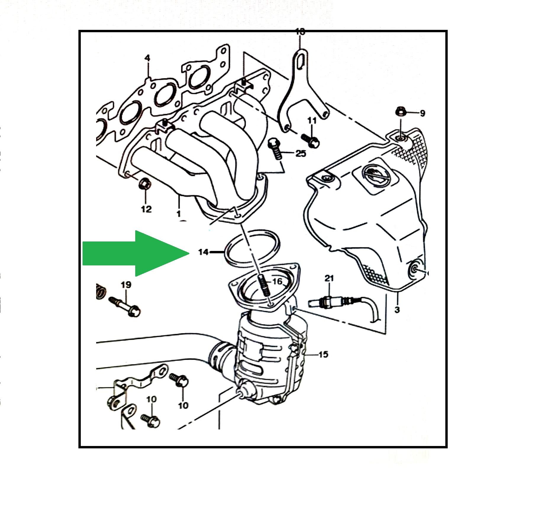 Anel do Escapamento Suzuki SX4 2.0 16V