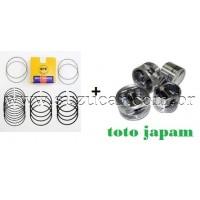 Jogo de Pistão e Anéis GRAND VITARA 2.0 16V Após 2008 (0.50mm) JAPAM